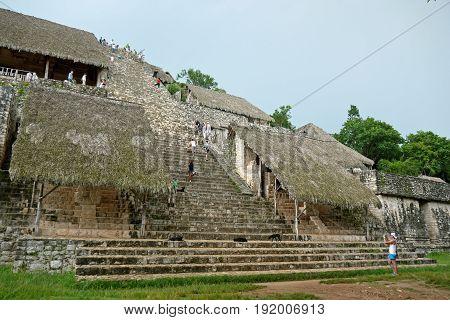 YUCATAN, MEXICO - August 22,2015: Ek Balam, Yucatan, MEXICO.