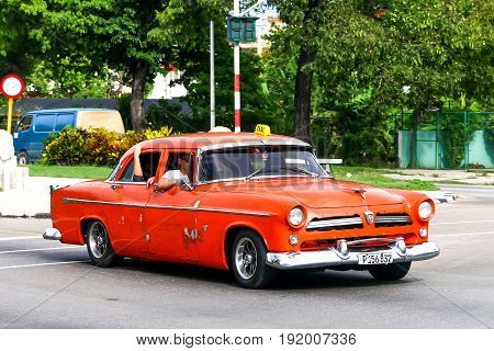 Orange Retro Motor Car