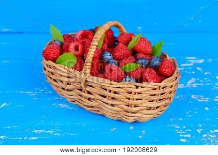 Fresh Berries On A Wooden Table