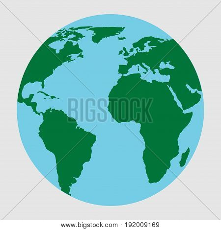 planet Earth icon. Flat planet Earth icon. Flat design illustration for web banner web and mobile infographics. icon
