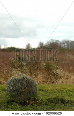 Clan Fraser memorial at Culloden Moor, Inverness, Scotland