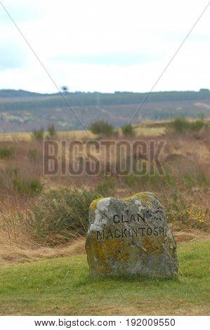 Clan MacKintosh Memorial at Culloden Moor, Inverness