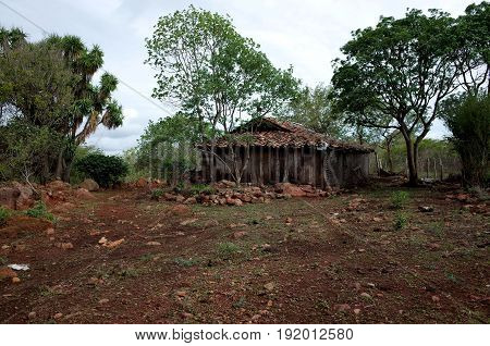 An abandoned farm in the Reserva Natural Miraflor Reserva Natural Miraflor (Miraflor Nature Reserve) a popular tourist destination near Esteli in the northern mountains of Nicaragua