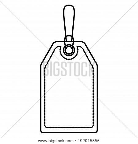 white background with monochrome silhouette of mark label vector illustration
