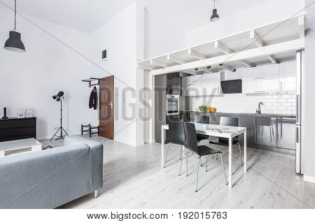 Open Plan Apartment With Kitchenette