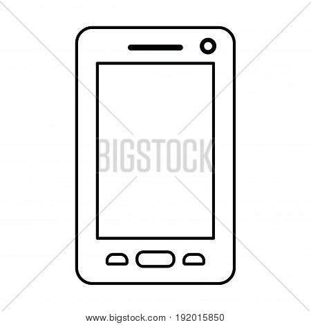 white background with monochrome silhouette of smartphone vector illustration