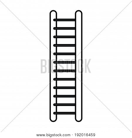 white background with monochrome silhouette of ladder vector illustration
