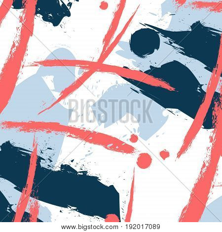 Vector fantasy pattern with brushstroke elements. Fabric custom printing. Artist textile graphic wallpaper for clothing. Simplicity fashion decoration.