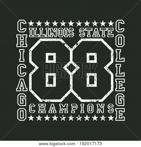 T-shirt Chicago athletics Typography Fashion college sport design for clothing