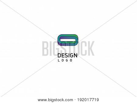 Contour modern logo illusion rings in style gradient