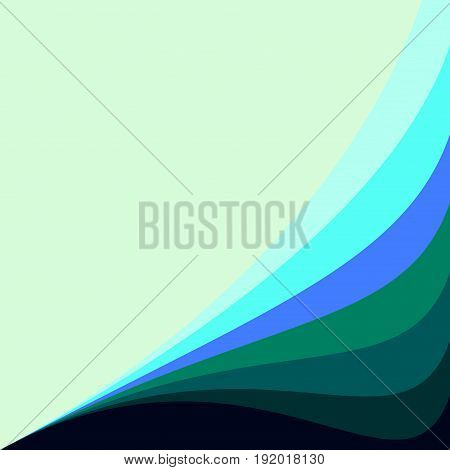 Abstract geometric vector background with wavy lines good for invitation design green aqua blue turquoise teal dark blue colors