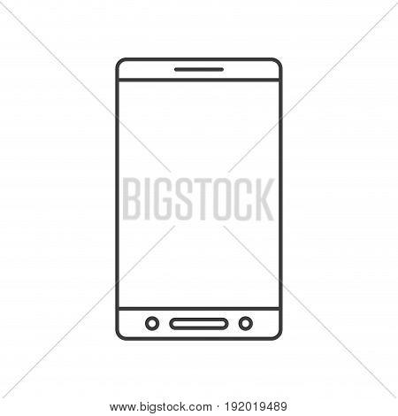 monochrome silhouette of smartphone icon vector illustration