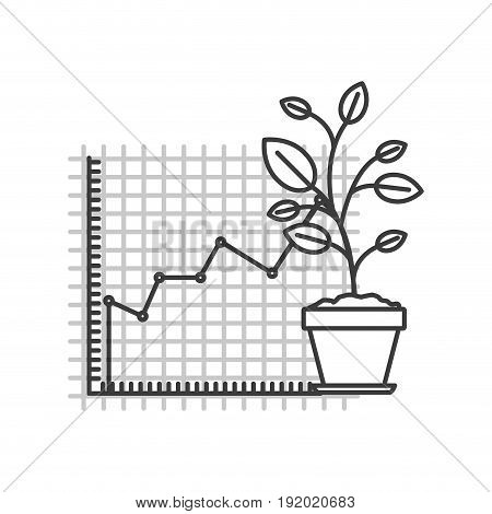 monochrome silhouette of growing and financial risk graphic vector illustration