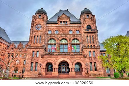 Ontario Legislative Building at Queen's Park in Toronto - Canada