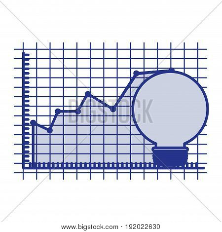 blue silhouette of light bulb and financial risk graphic vector illustration