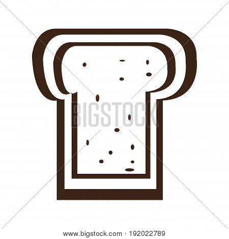 Isolated single sliced bread icon, Vector illustration