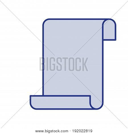 blue silhouette of continuously sheet in blank vector illustration