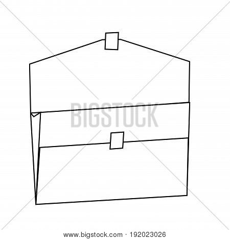 open folder empty archive office supply vector illustration