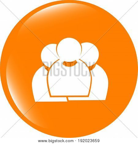 Business Man Silhouette Set Icon Web App Button