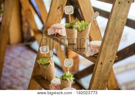 Beautifully decorated for wedding reception. Wedding decor.