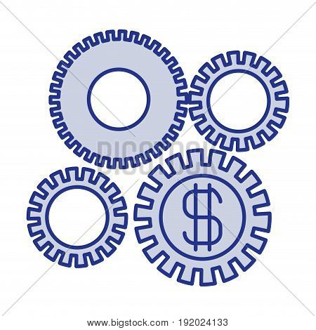 blue silhouette of economic development graphic vector illustration