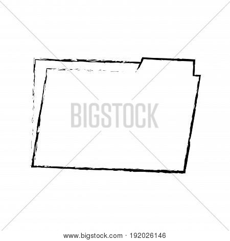 folder archive office supply element blank icon vector illustration