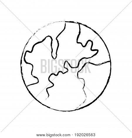global world earth map atlas location vector illustration