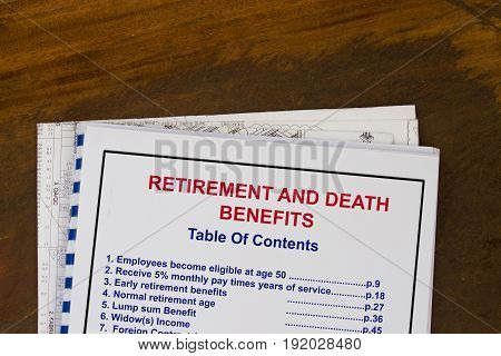 Retirement And Death Benefits
