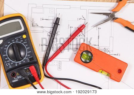 Electrical Diagrams, Multimeter For Measurement In Electrical Installation And Accessories For Engin