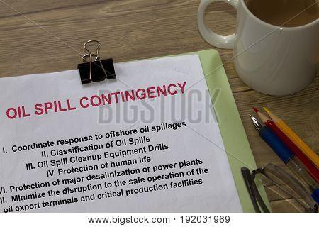 Oil  Spill Contingency