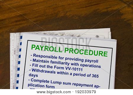 Payroll Procedure Concept