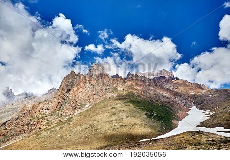Beautiful Landscape Of Snowy Mountains