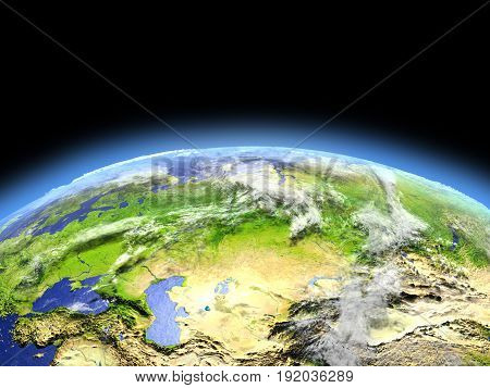 Western And Central Asia From Space