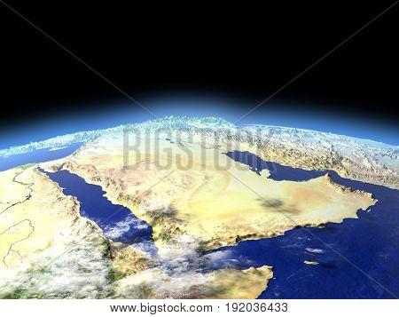 Arab Peninsula From Space