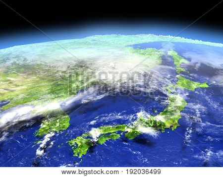 Japan And Koreas From Space