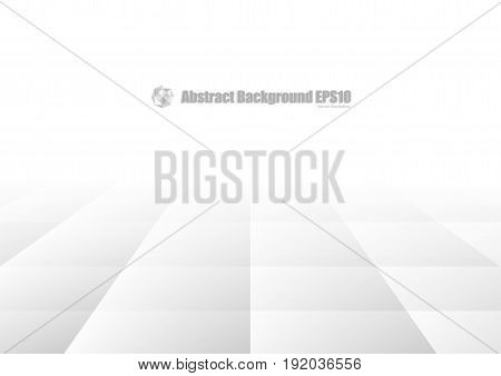 Abstract gray geometric background with perspective concept