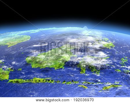 Malaysia From Space