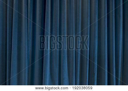 Blue Curtain For Backgrounds And Theater Themes
