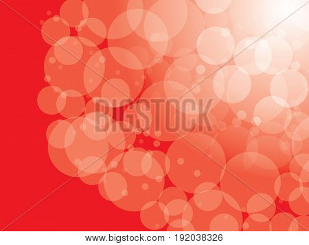 Abstract  Red circular bokeh background. Vector illustration.