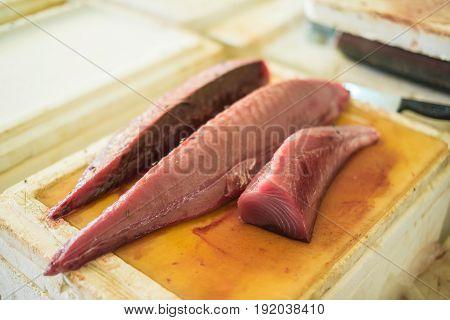 Raw Tuna Fish For Sale At Fish Market In Male,maldives