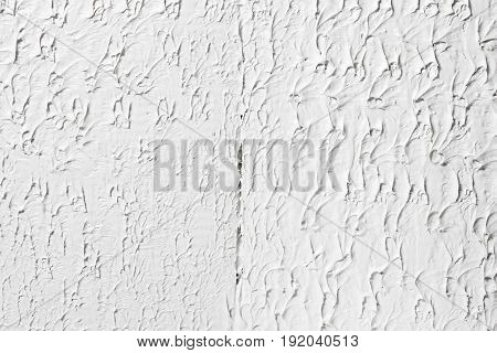 Rough texture white background with free space for text. Plastered wall texture, stucco grungy surface.