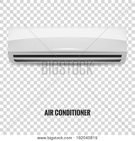 Air conditioner. Realistic air conditioner isolated. Air Conditioner mock up