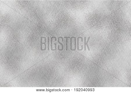 Shiny silver foil texture grey metallic decorative background