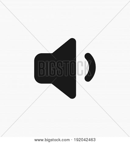 Media player sound volume down button flat vector icon.