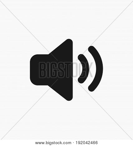 Media player sound volume up button flat vector icon.