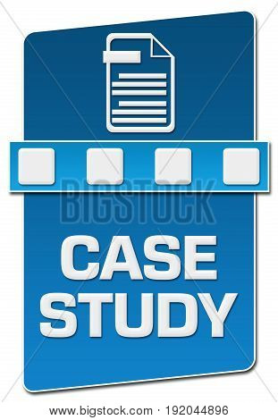 Case study concept image with text and related symbol.