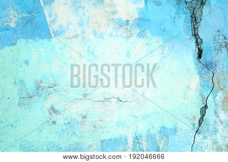 Urban Wall, The Concrete Surface Is Blue, The Color Of Cement Texture