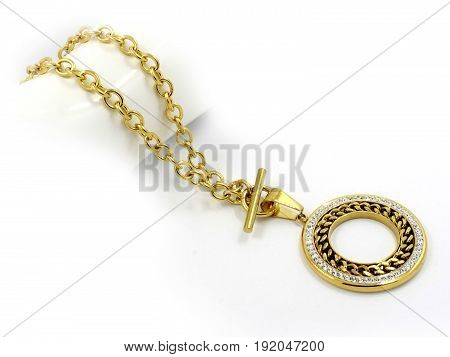 Ladies Necklace - One Color Background