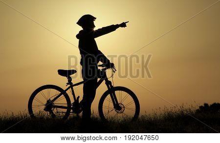 driving route and bike adventure & love bike
