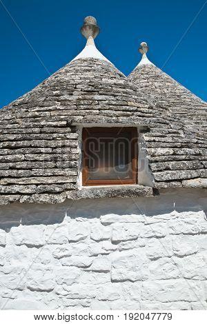 Characteristic trulli houses of Alberobello. Puglia. Italy.